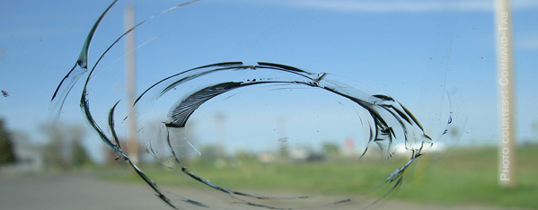 Deluxe Glass can repair the stone chip in your vehicle's windshield