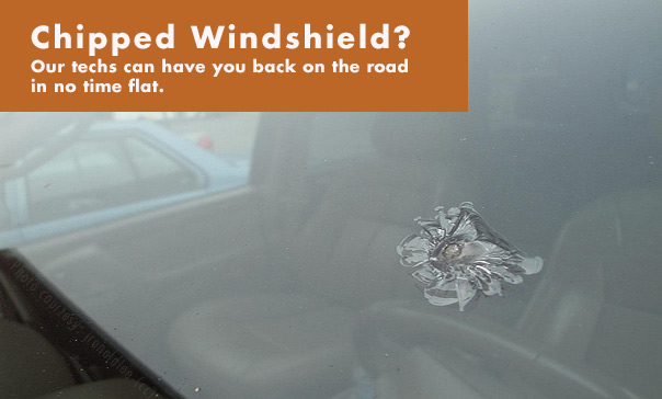 Chipped Windshield? - Deluxe Glass of Fort Wayne can have you back on the road in no time flat.